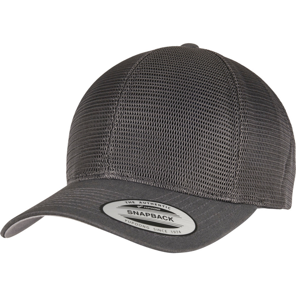 Yupoong - 360 Mesh Baseball Cap - Dark Grey