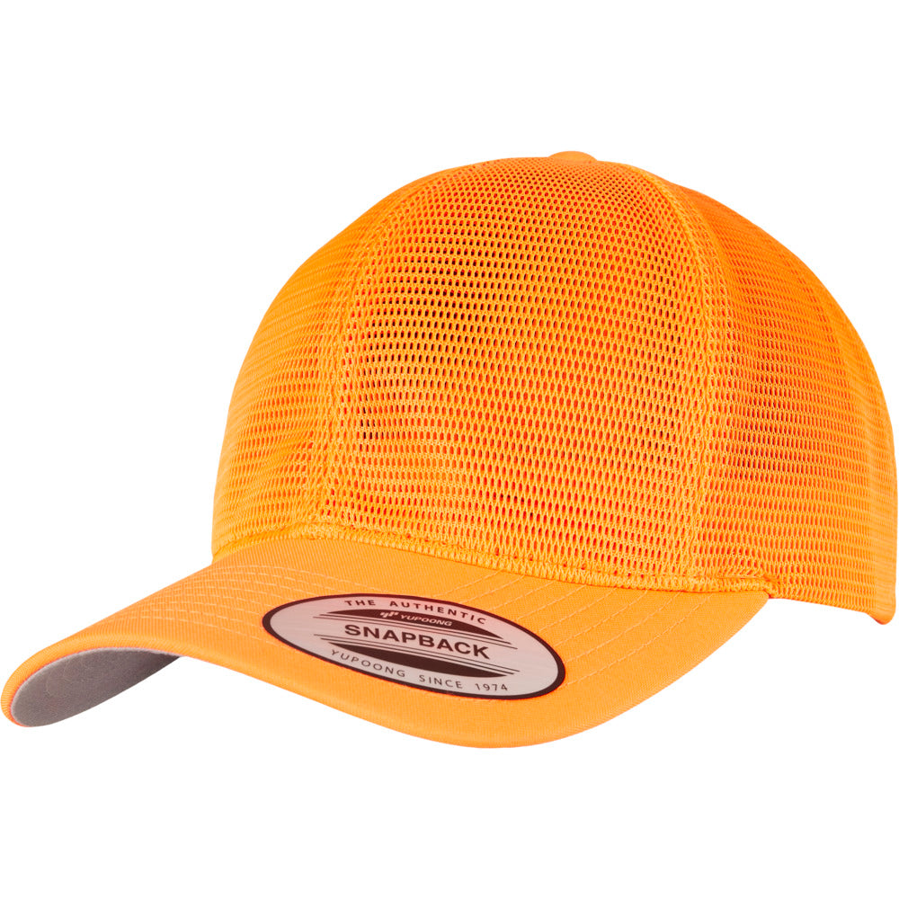 Yupoong - 360 Mesh Baseball Cap - Neon Orange