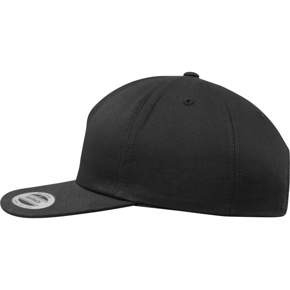 Yupoong - Unstructured 5-Panel Snapback - Black