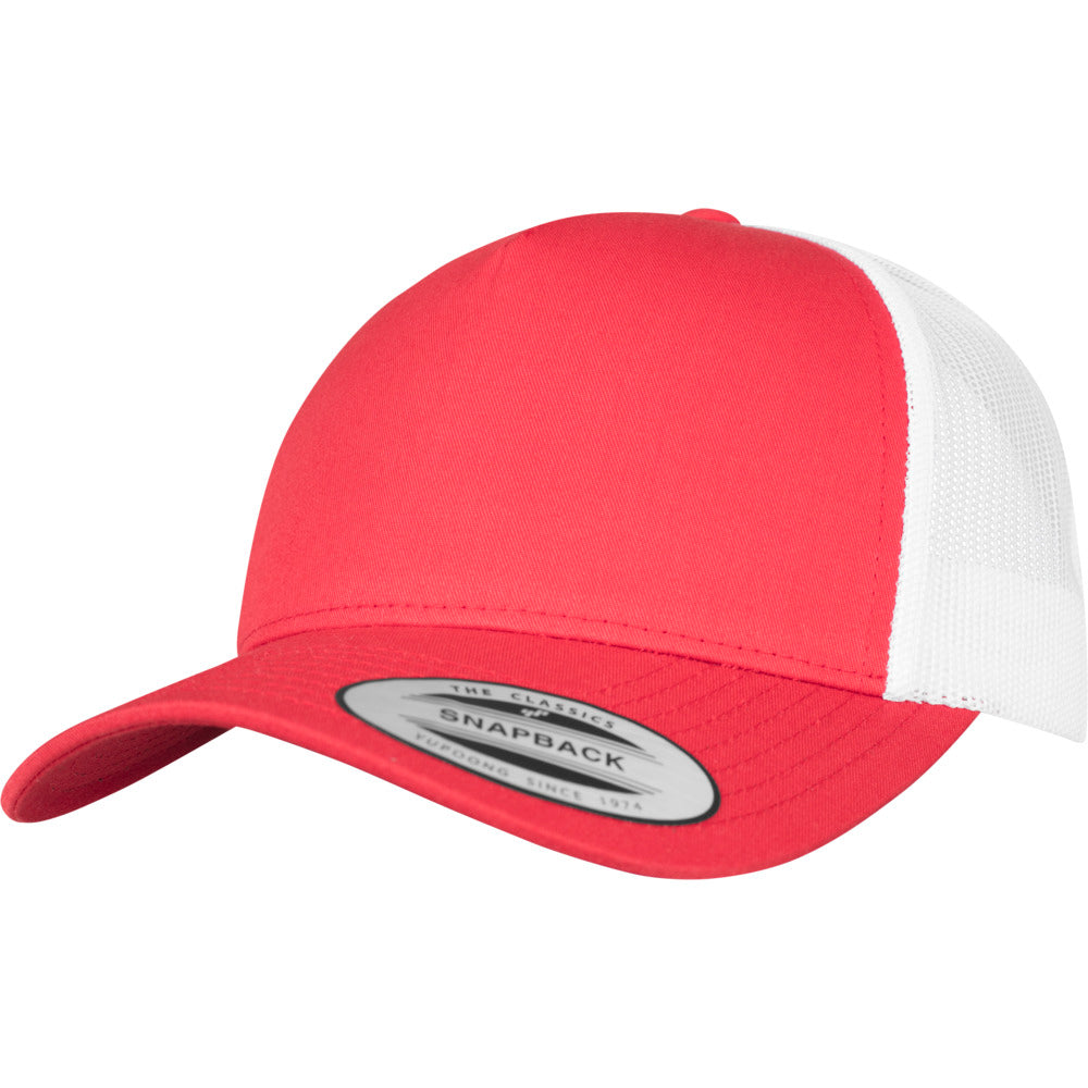 Yupoong - 5-Panel Trucker Cap - Red/White