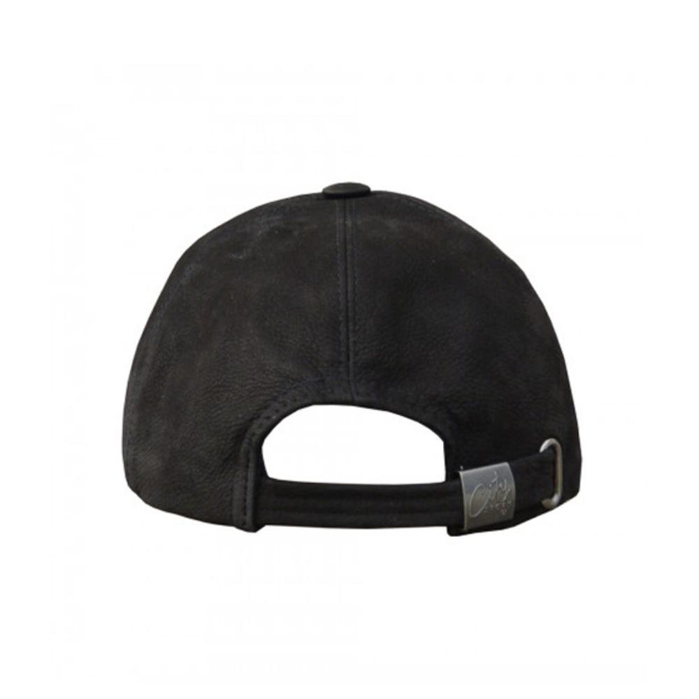 Dad Cap (7029) - Black Leather