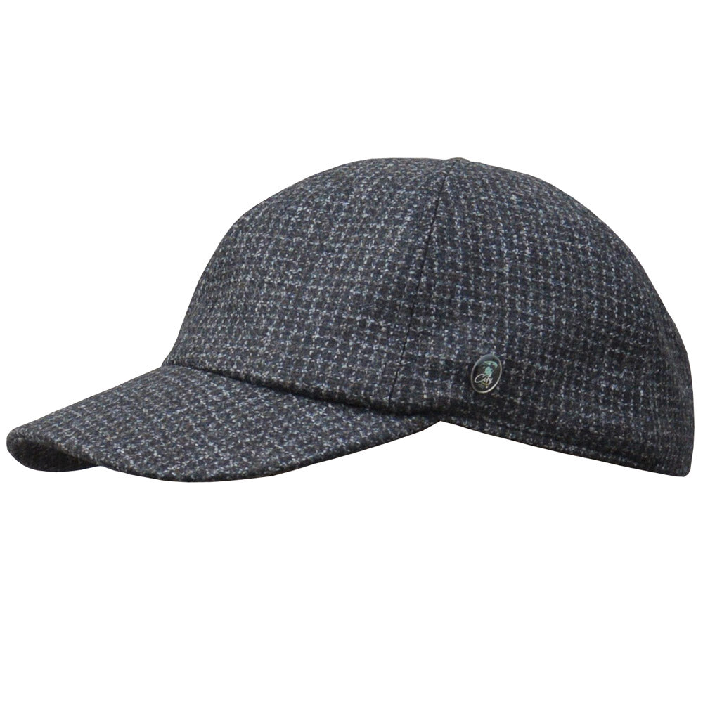 City Sport - Dad Cap Winter - Dk Grey Check