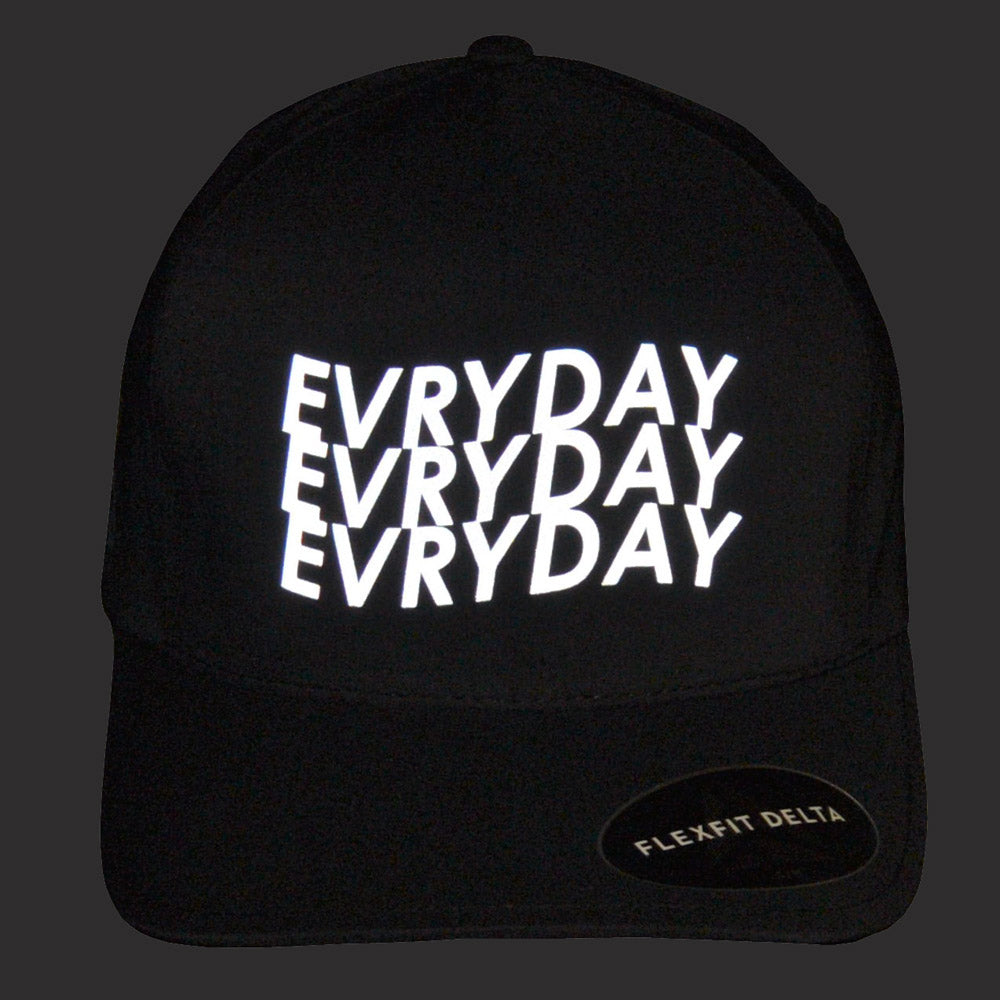 Evryday - Reflective Script Baseball Cap - Black