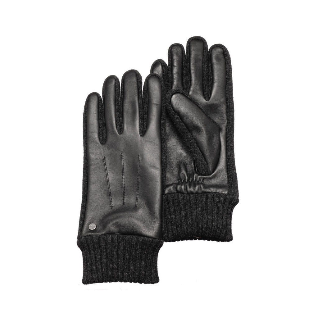 Pearlwood - Cross Leather Gloves - Black