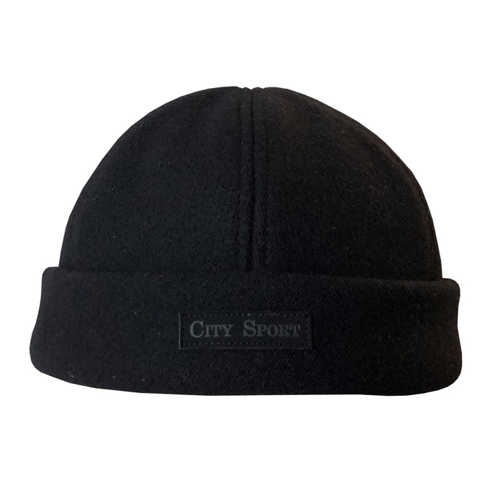 City Sport - Heavy Foldup Beanie - Black