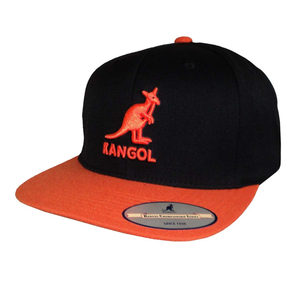 Kangol - Snapback - Black/Orange