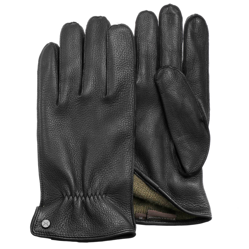 Pearlwood - Lewis Leather Gloves - Black