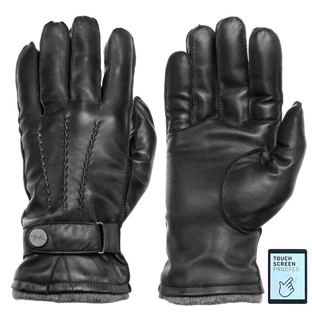 Pearlwood - Mike Leather Gloves - Black