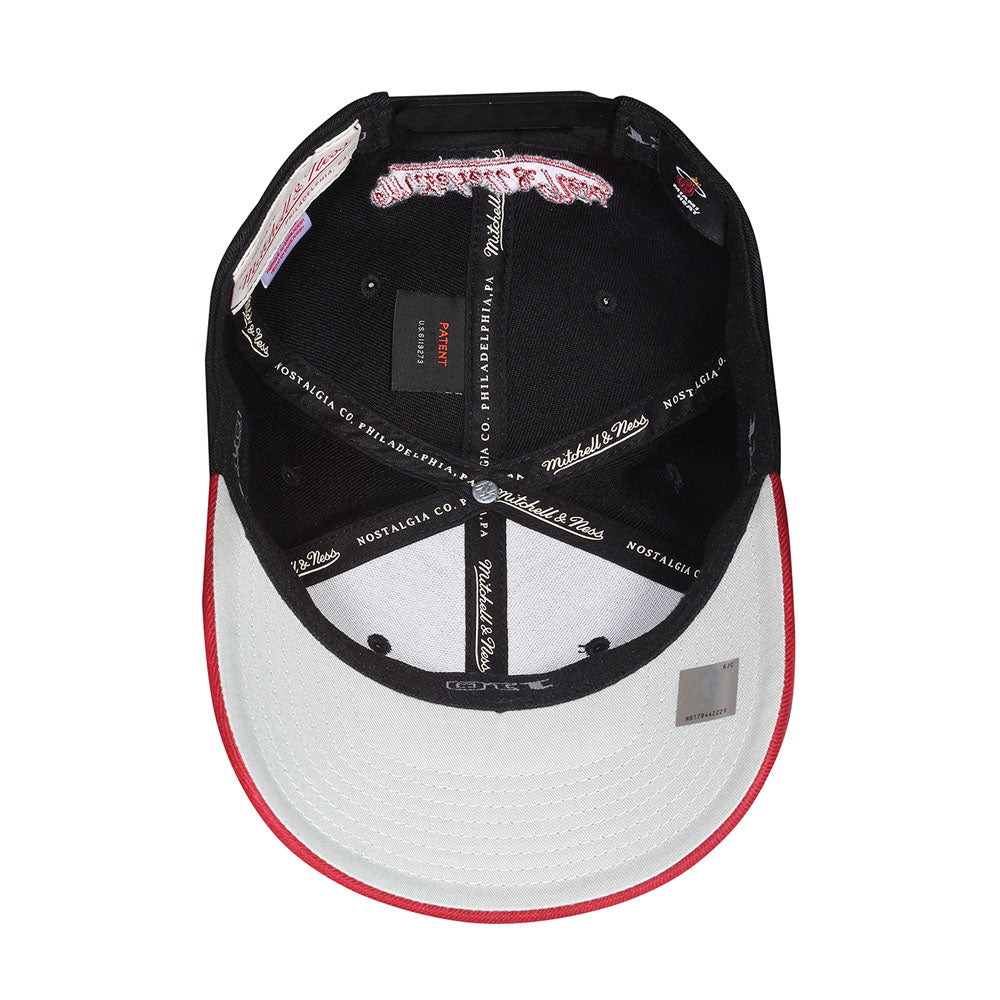 Mitchell & Ness - Miami Heat Baseball Snapback - Black/Bordeaux