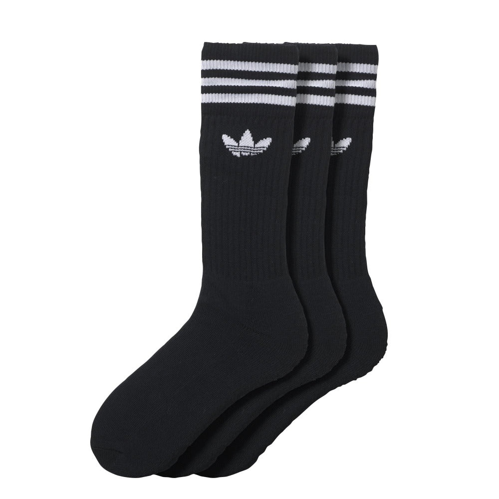 Solid Crew Sock (3 pack) - Black