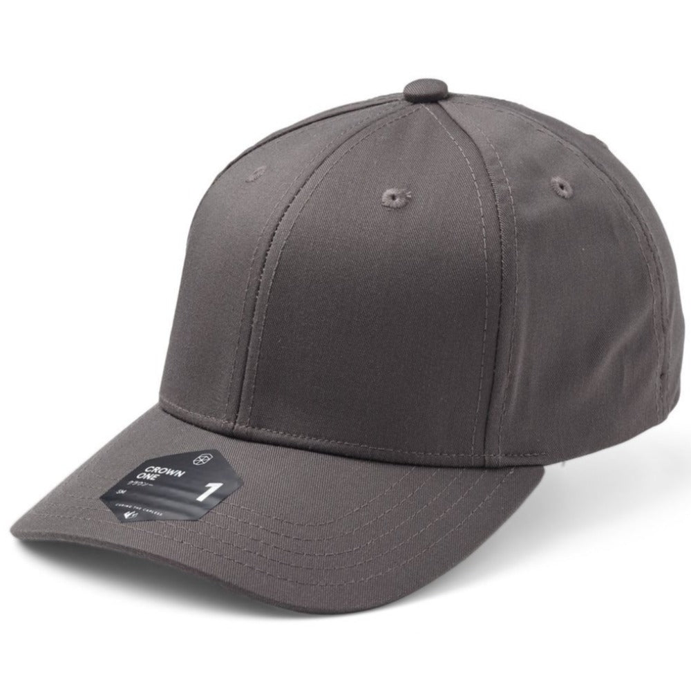 SOW - Crown 1 Baseball Cap - Dark Grey