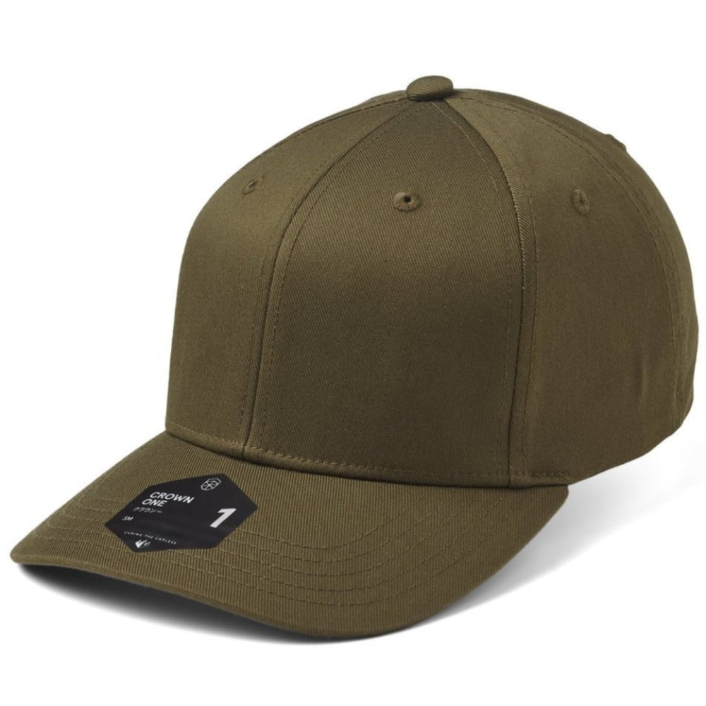 SOW - Crown 1 Baseball Cap - Olive