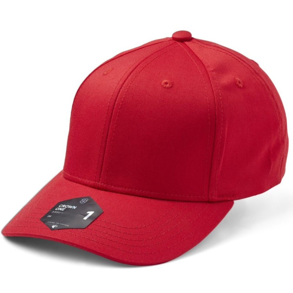 SOW - Crown 1 Baseball Cap - Red