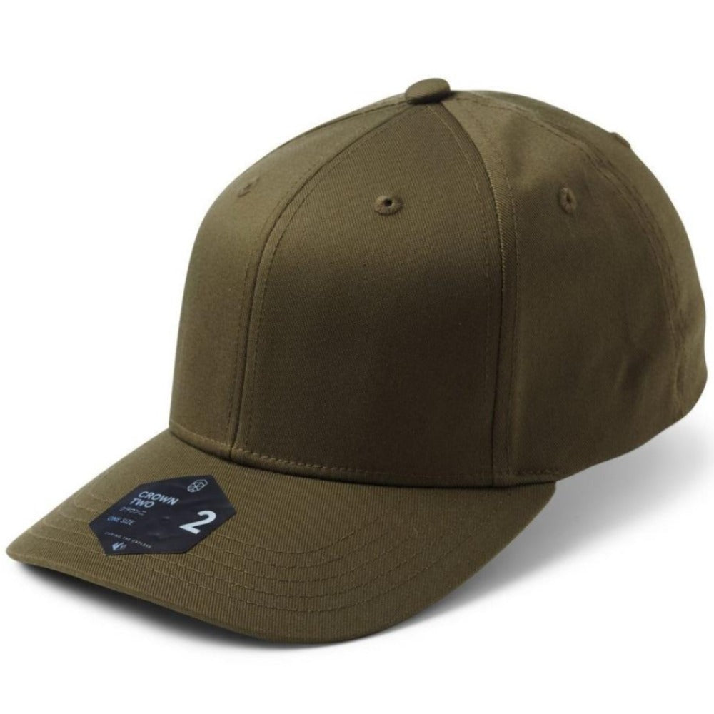 Crown 2 Adjustable Cap - Olive