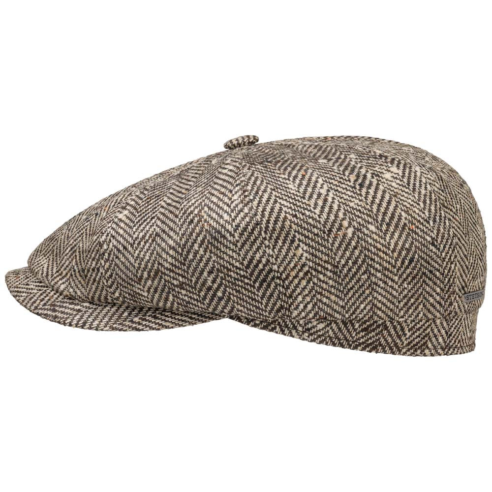 Stetson - Hatteras Wool Silk Sixpence - Brown Herringbone