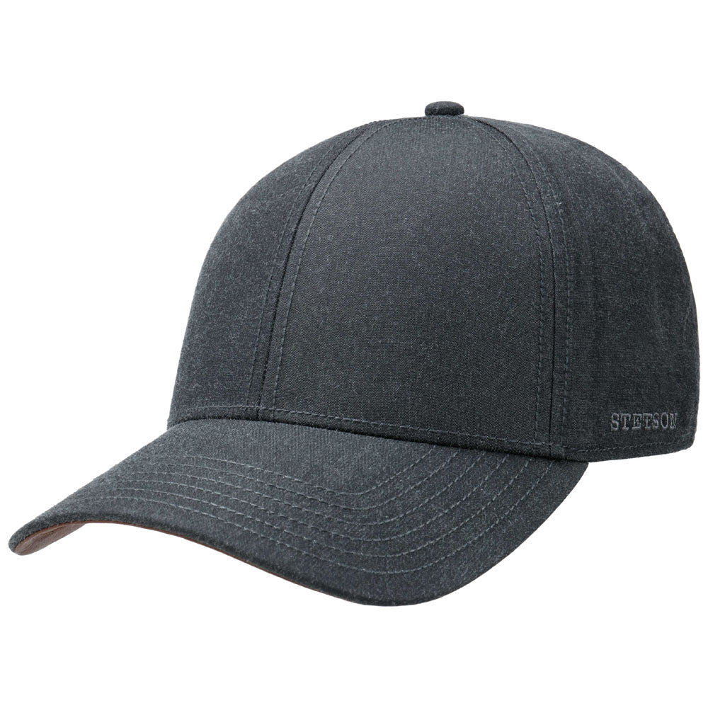 Stetson - Waxed Cotton Baseball Cap - Dark Grey