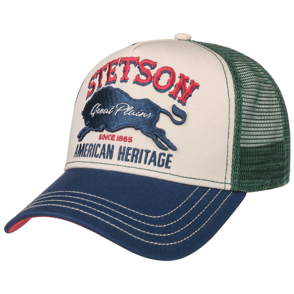 Stetson - Great Plains Trucker Cap - Navy/Spruce
