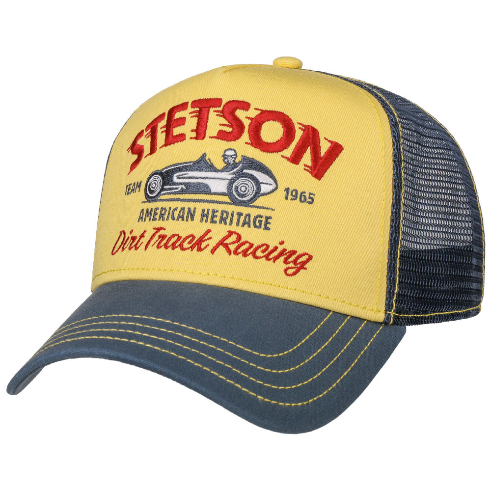 Stetson - Dirt Track Racing Trucker Cap - Navy/Yellow