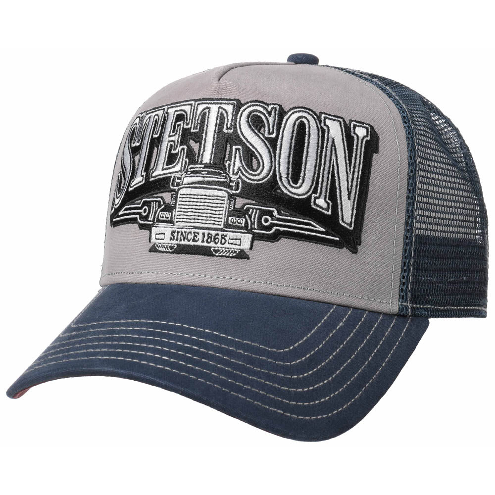 Stetson - Trucking Trucker Cap - Navy/Grey
