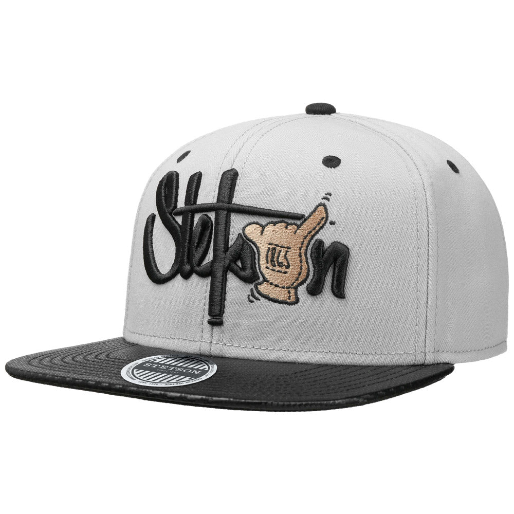 Stetson - Shaka Cotton Snapback - Grey/Black
