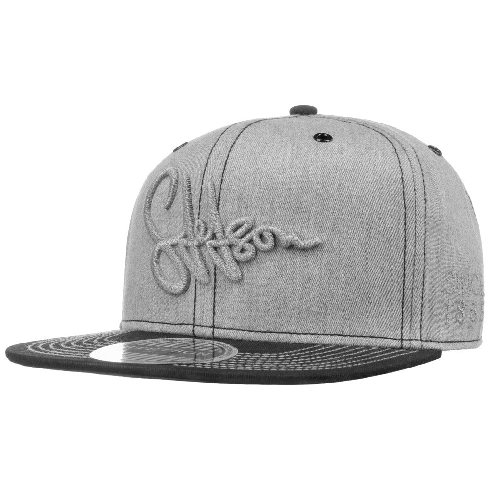 Stetson - Cotton Snapback - Grey/Black