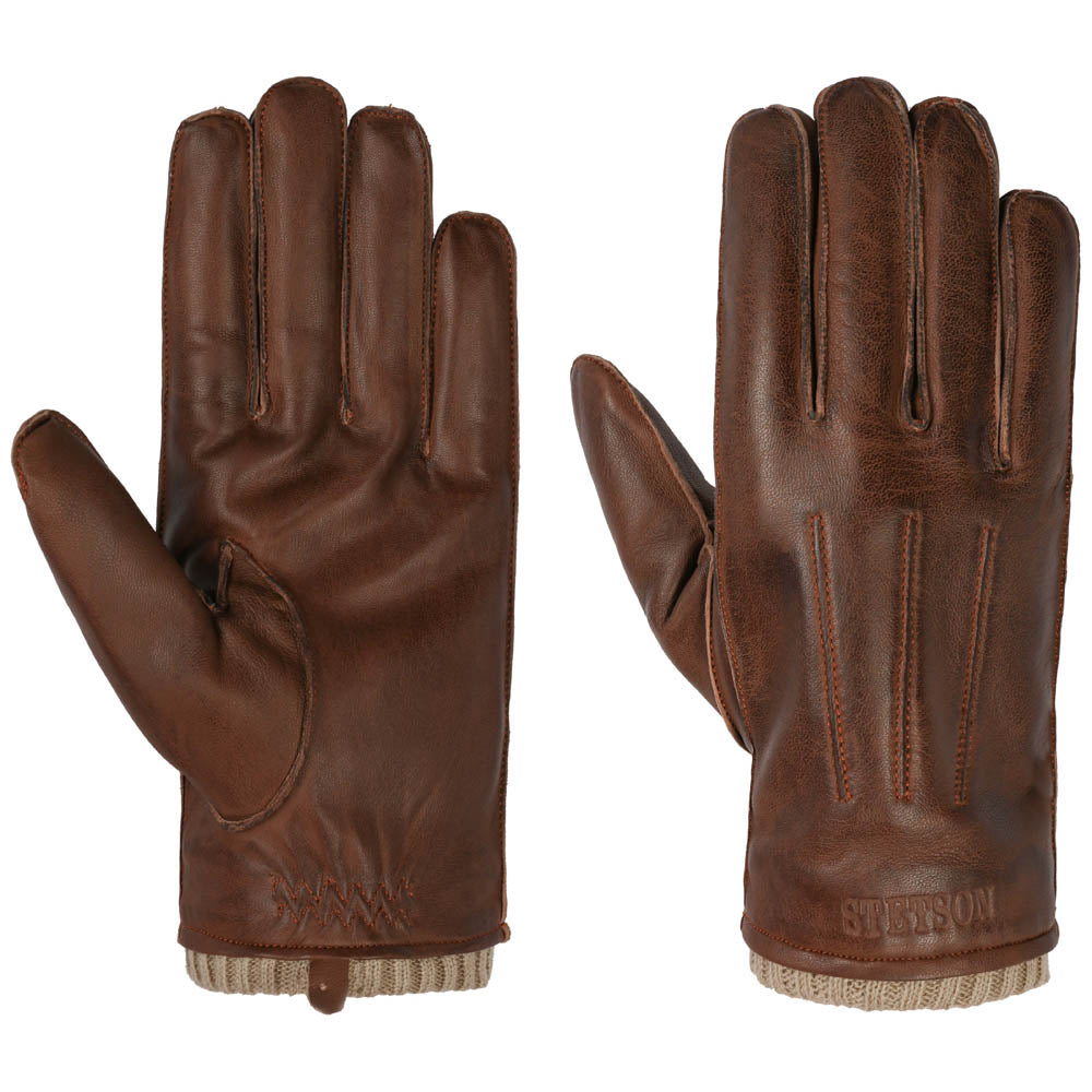 Stetson - Sheep Leather Gloves - Brown