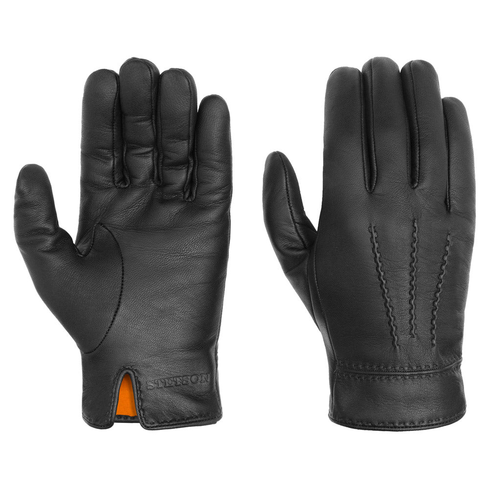 Stetson - Goat Leather Gloves - Black