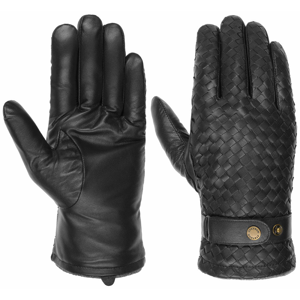 Stetson - Sheep Leather Gloves - Black