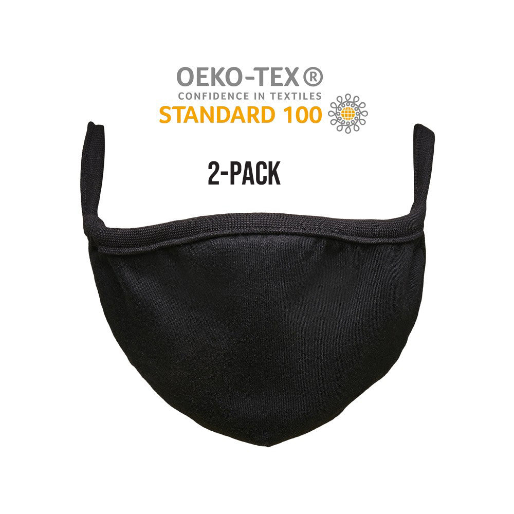 Mister Tee - 2-Pack Cotton Face Mask - Black