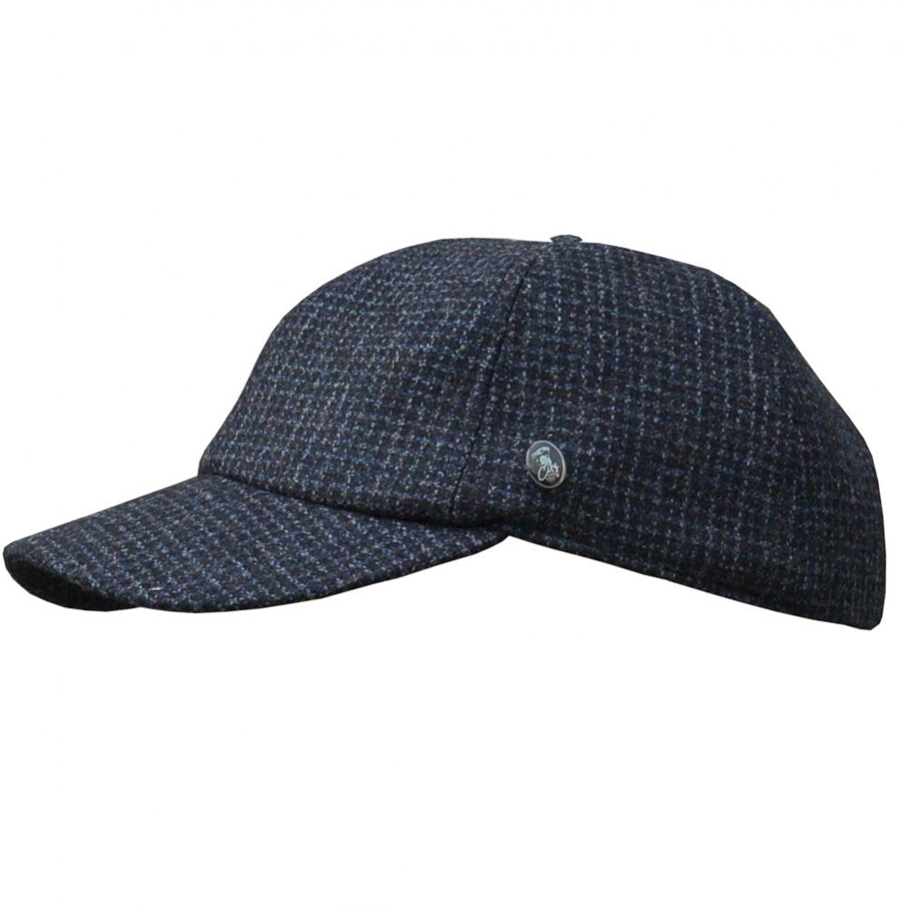 Dad Cap (7029) - Navy/Blue/Black Check