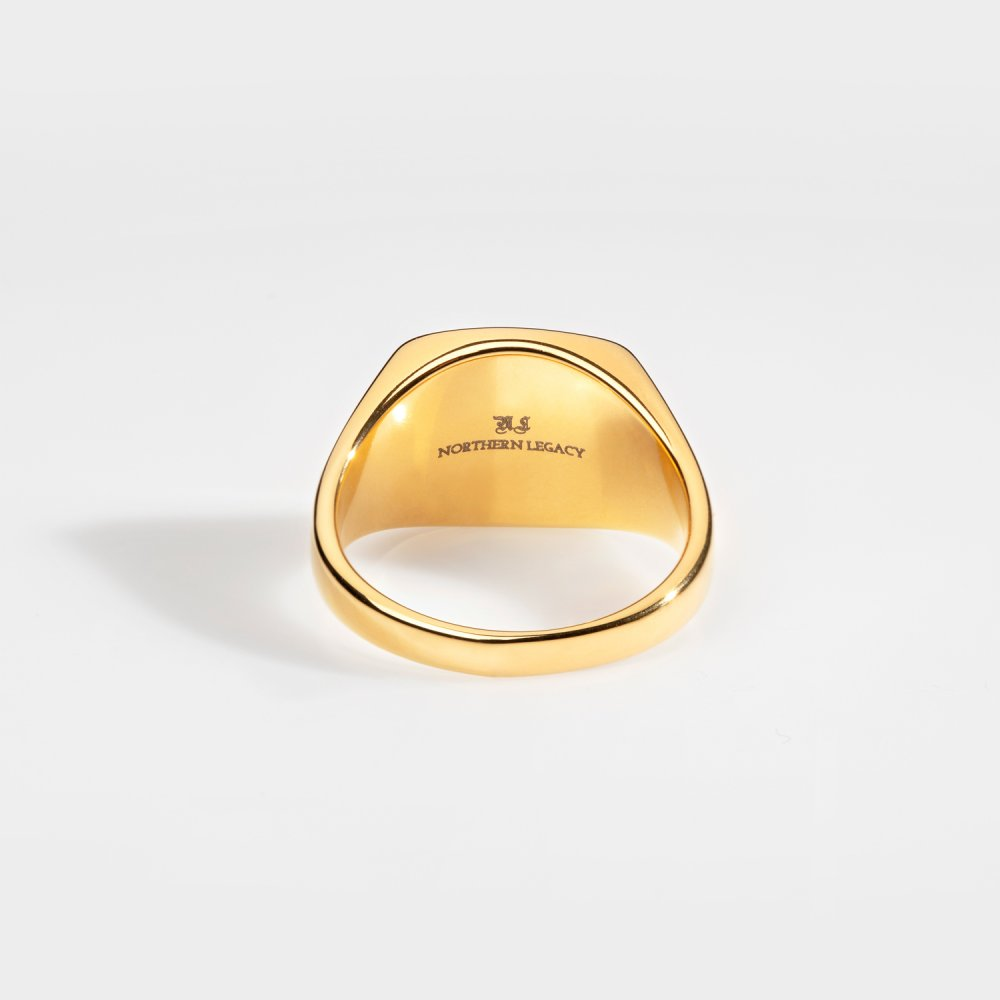 Northern Legacy - Black Onyx Signature Ring - Gold