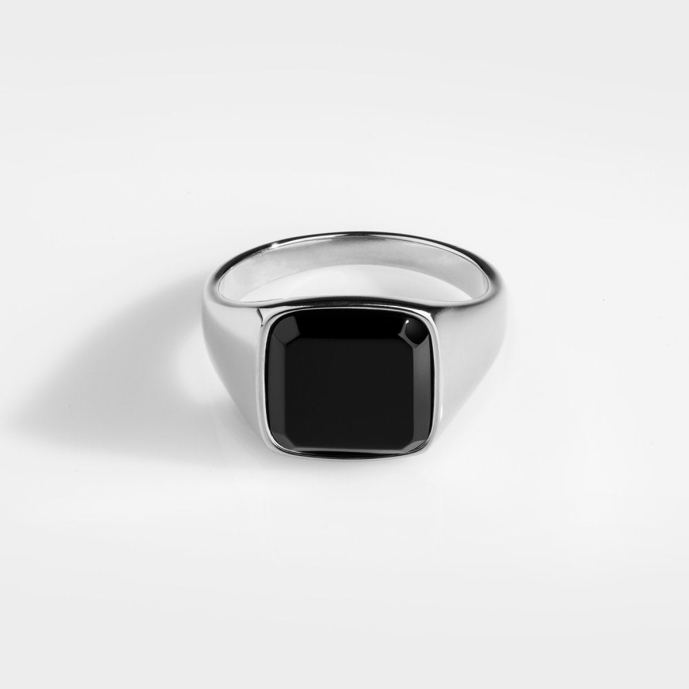 Northern Legacy - Black Onyx Signature Ring - Silver