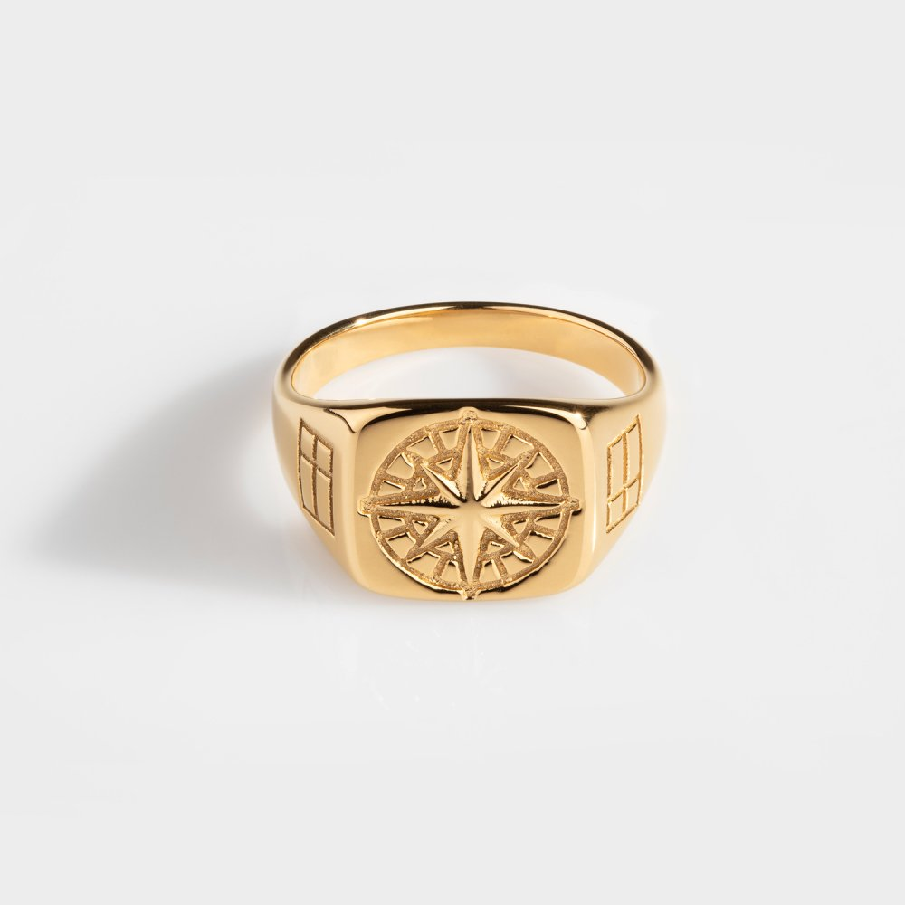 Northern Legacy - Compass Signature Ring - Gold