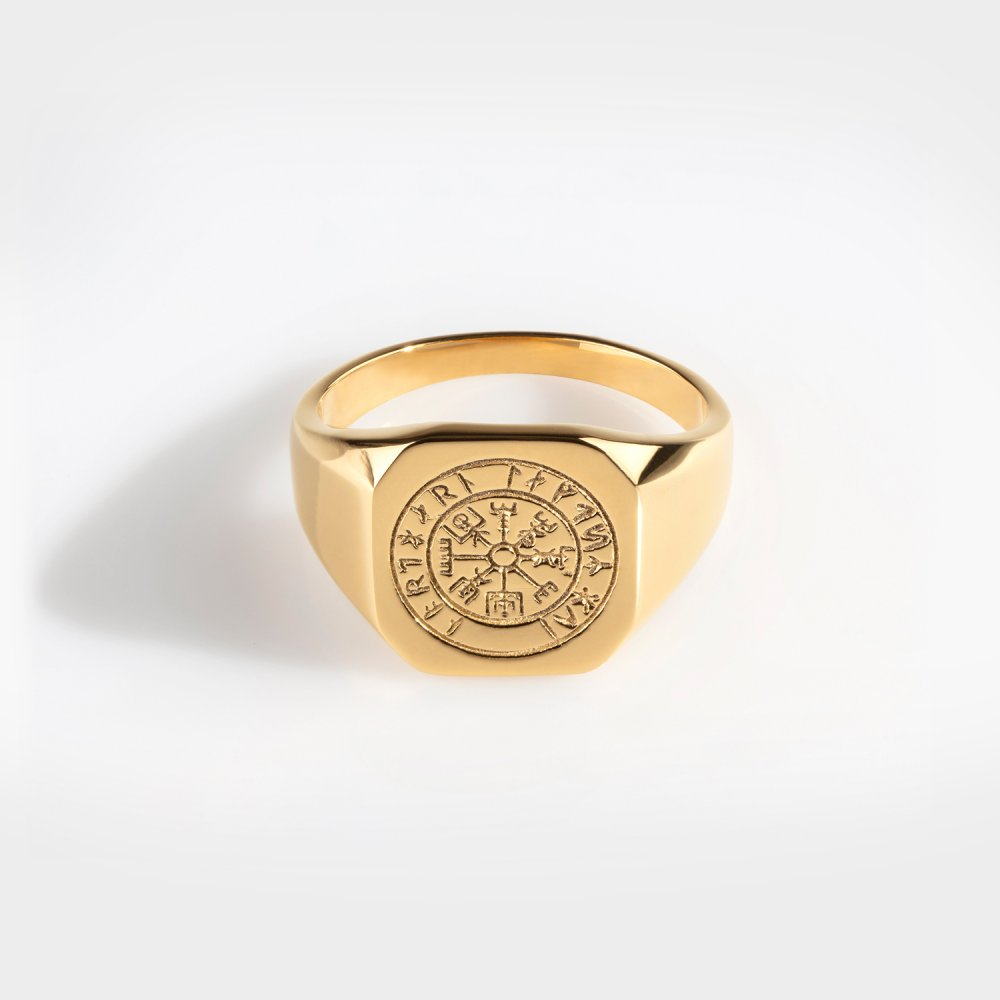 Northern Legacy - Vegvisir Signature Ring - Gold