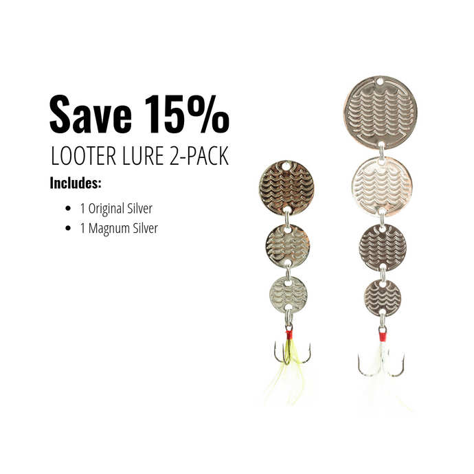 Looter Lure 2-pack (Silver) w/ Looter Hooks