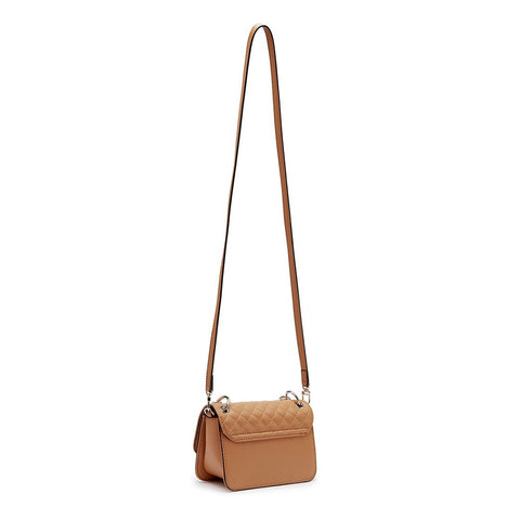 VALENTINA Quilt Mini Crossbody Flap Camel
