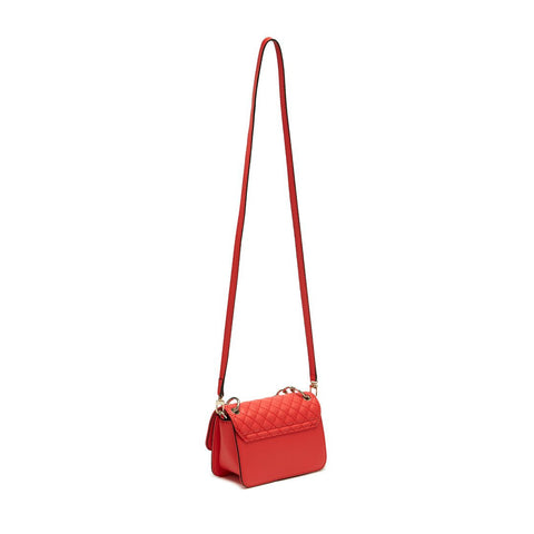 VALENTINA Quilt Mini Crossbody Flap Poppy