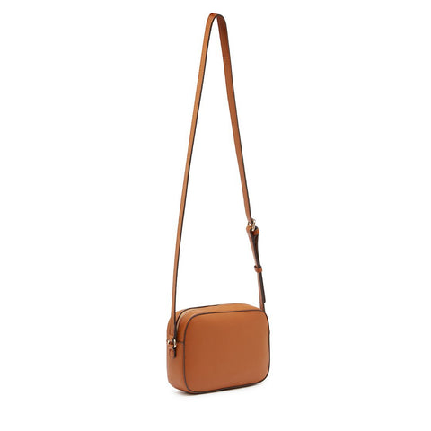 ZOE Crossbody Top Zip Cognac