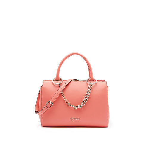 LEIGHTON Girlfriend Satchel Coral