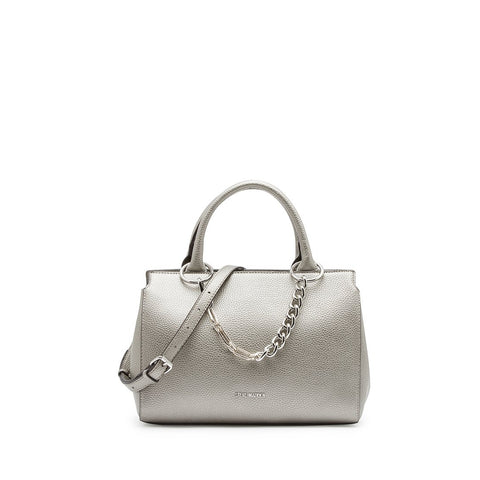 LEIGHTON Girlfriend Satchel Pewter