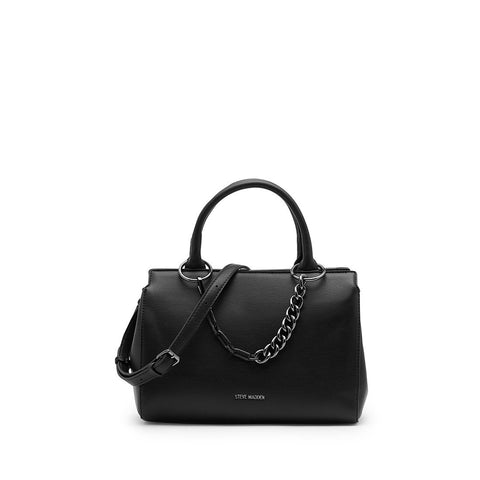 LEIGHTON Girlfriend Satchel Black