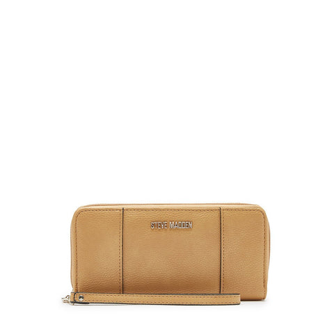 MALIA Zip Around Wallet Camel