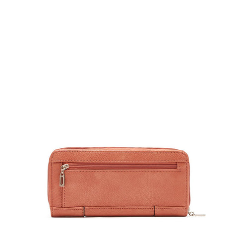 MALIA Zip Around Wallet Coral