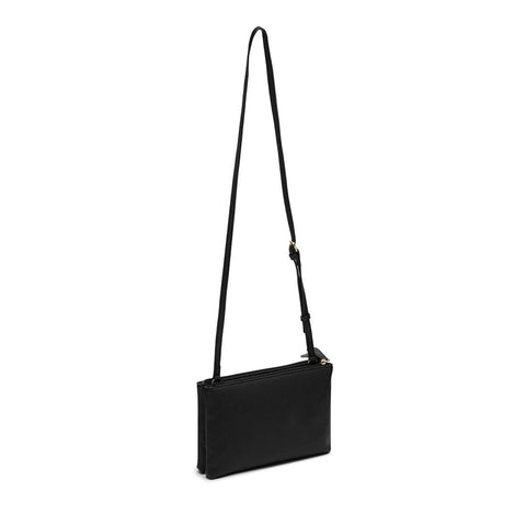 MALIA Mini Double Zip Crossbody Black