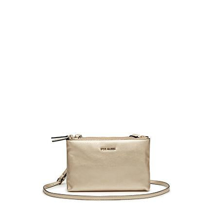 MALIA Mini Double Zip Crossbody Champagne