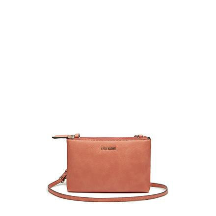 MALIA Mini Double Zip Crossbody Coral