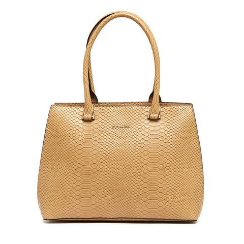 CHELSEA Snake Tote Taupe