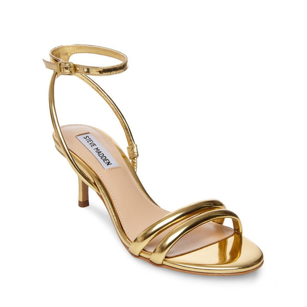 2bf55e228ec RUDE GOLD KITTEN HEELS