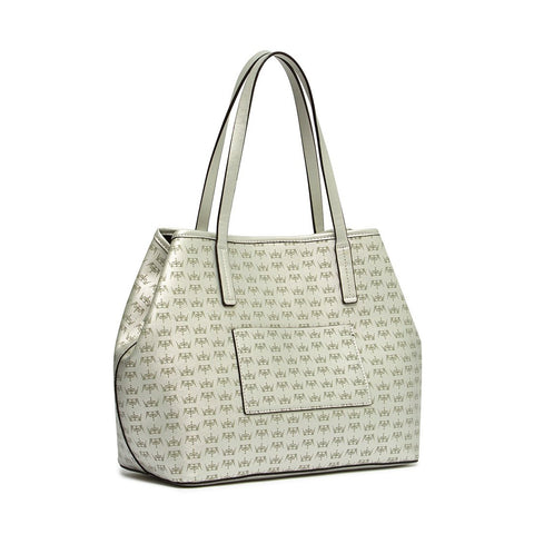 CROWN Large Tote Silver