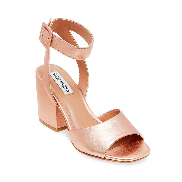 a4e7213f62f DEBBIE ROSE GOLD BLOCK HEEL SANDALS